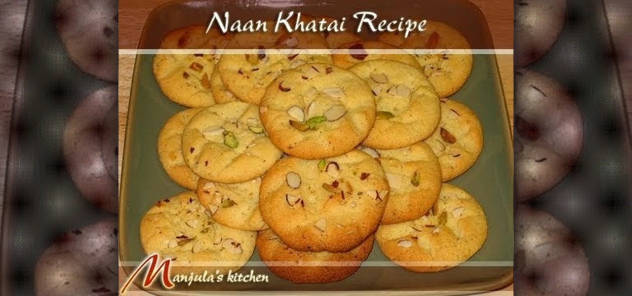 How to make indian nan khatai biscuits with manjula dessert how to make indian nan khatai biscuits with manjula dessert recipes wonderhowto forumfinder Image collections