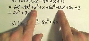 Multiply complex polynomials in algebra
