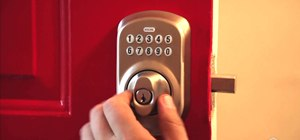 Replace an old deadbolt and install a new electronic keyless entry device