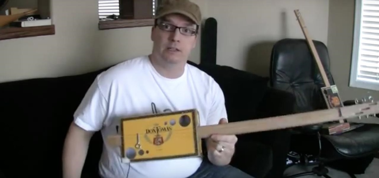 Make a Homemade Ghetto Guitar from a Cigar Box