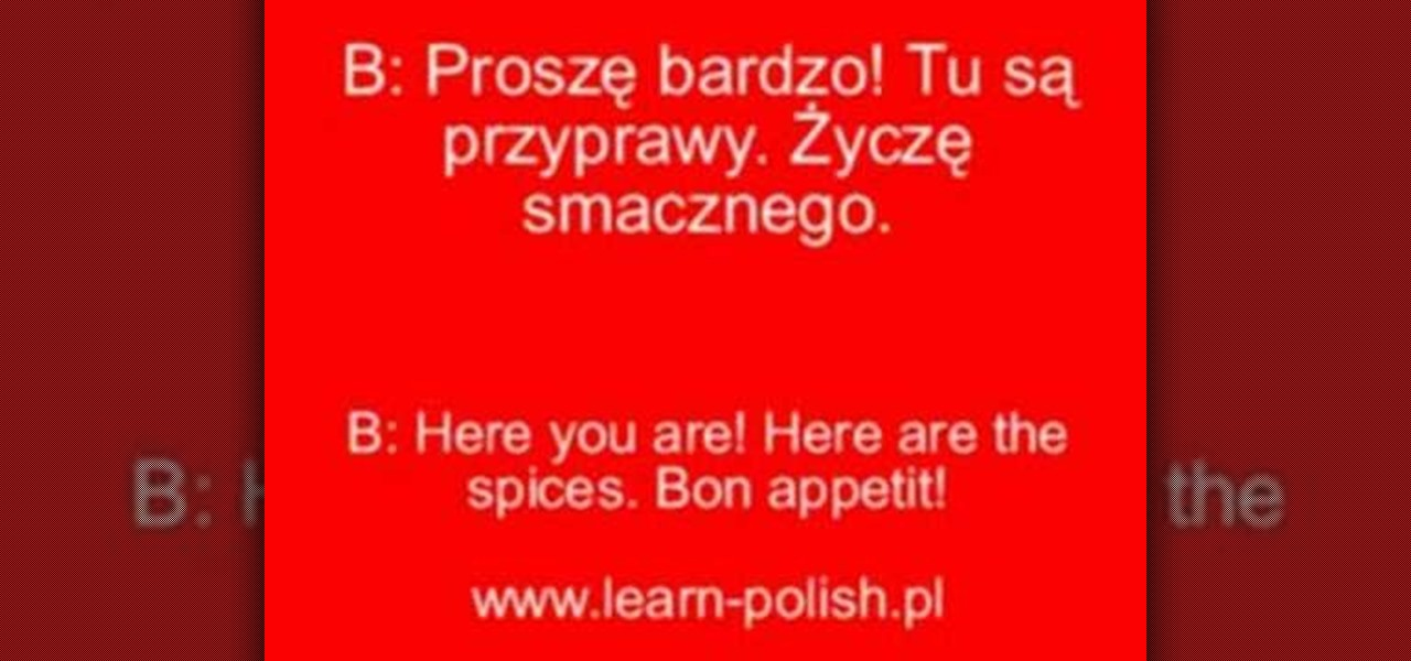 How to Say restaurant related words & phrases in Polish « Polish ...
