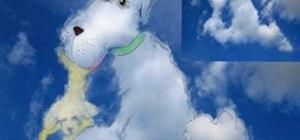 cloud art pup
