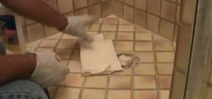 "Remove surrounding ""haze"" from a tile grout patch"