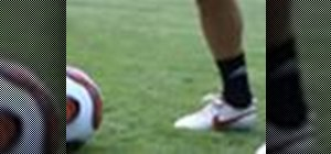 Pass a soccer ball perfectly