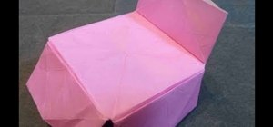 Make a pretty pink origami bed for beginners