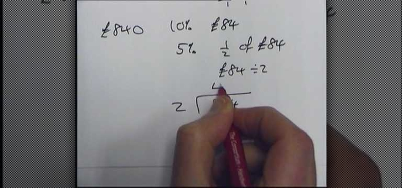 How To Solve Percentages Without A Calculator Math Wonderhowto