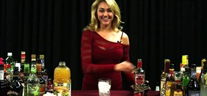 Mix a French Whore cocktail with vodka, Chambord & pineapple juice