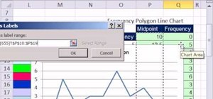 Create a frequency polygon line chart in MS Excel