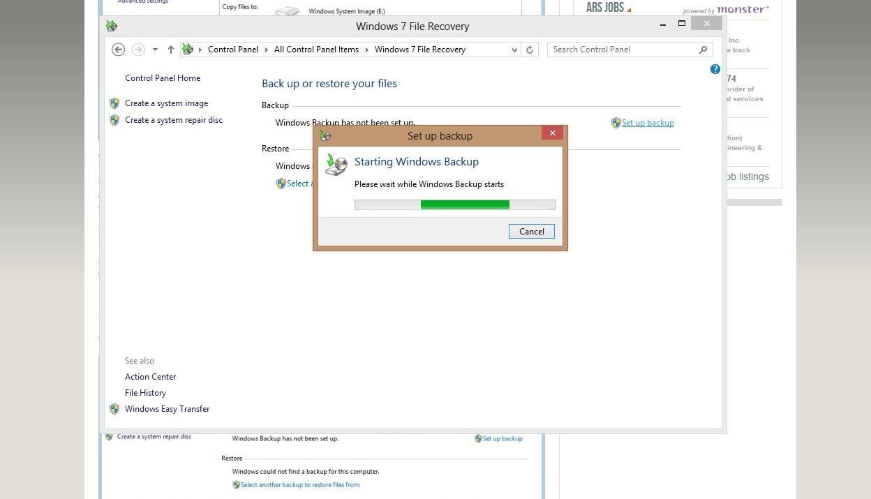 how to get a system image for win 8