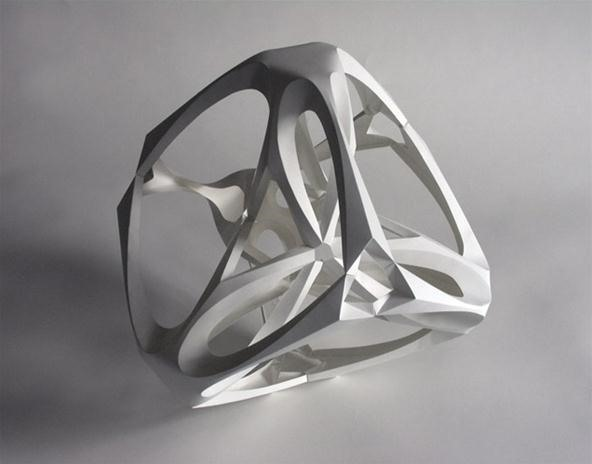 Math Craft Inspiration of the Week: The Curved Geometric Paper Sculptures of Richard Sweeney