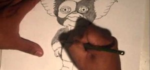 "Draw Gizmo from the ""Gremlins"" with Wizard"