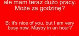 Ask a Polish girl out in Polish