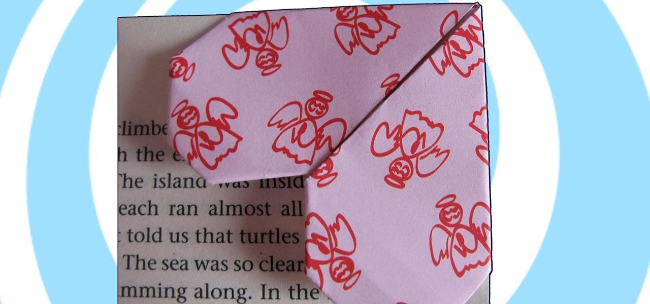 Make an Origami Bookmark Heart