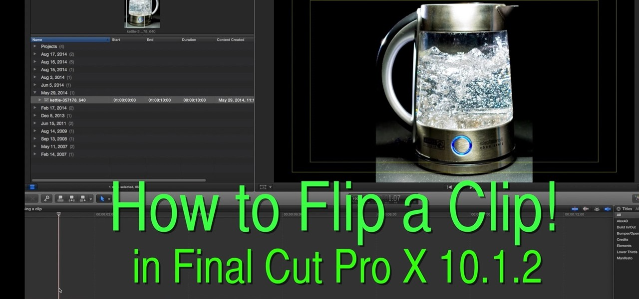 Flip a Clip in Final Cut Pro X 10.1.2