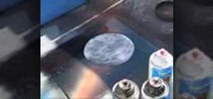 Spray paint a moon
