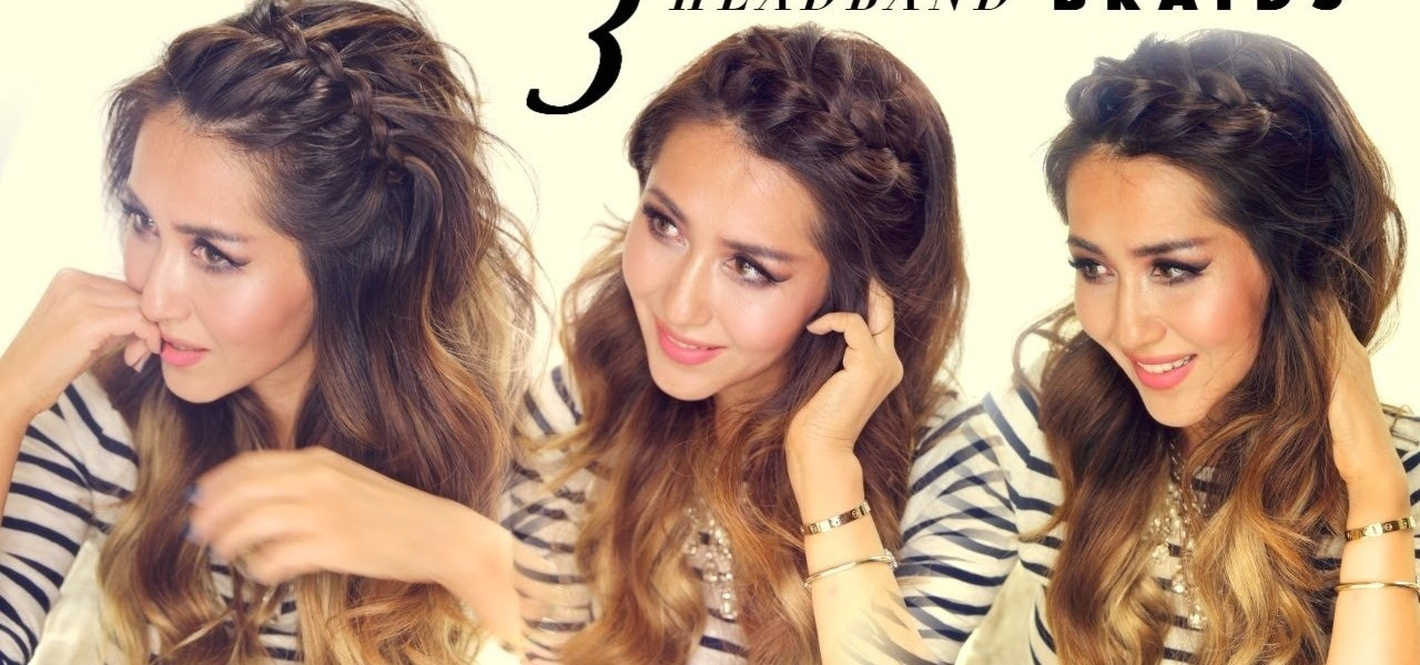How to 3 Easy Headband Braids QUICK HAIRSTYLES « Hairstyling ...
