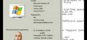 Customize general system info in Windows XP