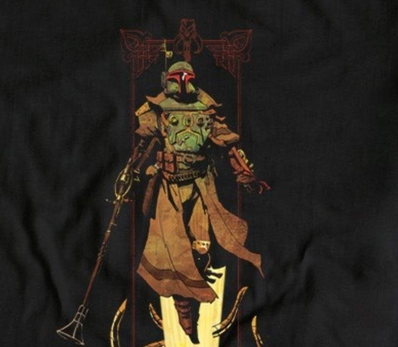 Steampunk Boba Fett Becomes a T-Shirt