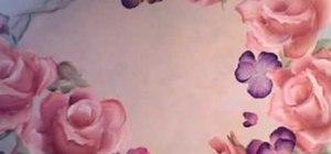 Paint pansies flowers