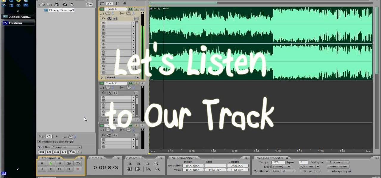 Get Rid of the Vocal Track in Adobe Audition