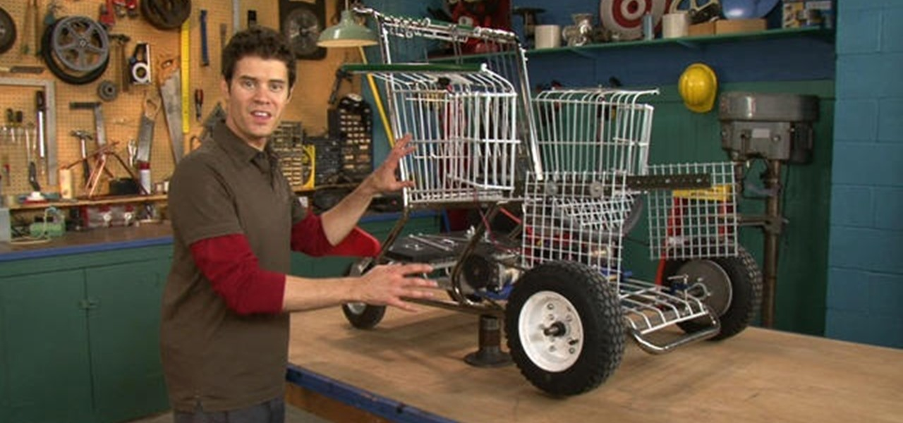 How to make a shopping cart chair with make magazine 171 metalworking