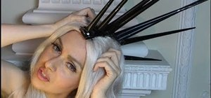 Create Lady Gaga's neutral makeup and spiked headpiece from the 2010 VMAs