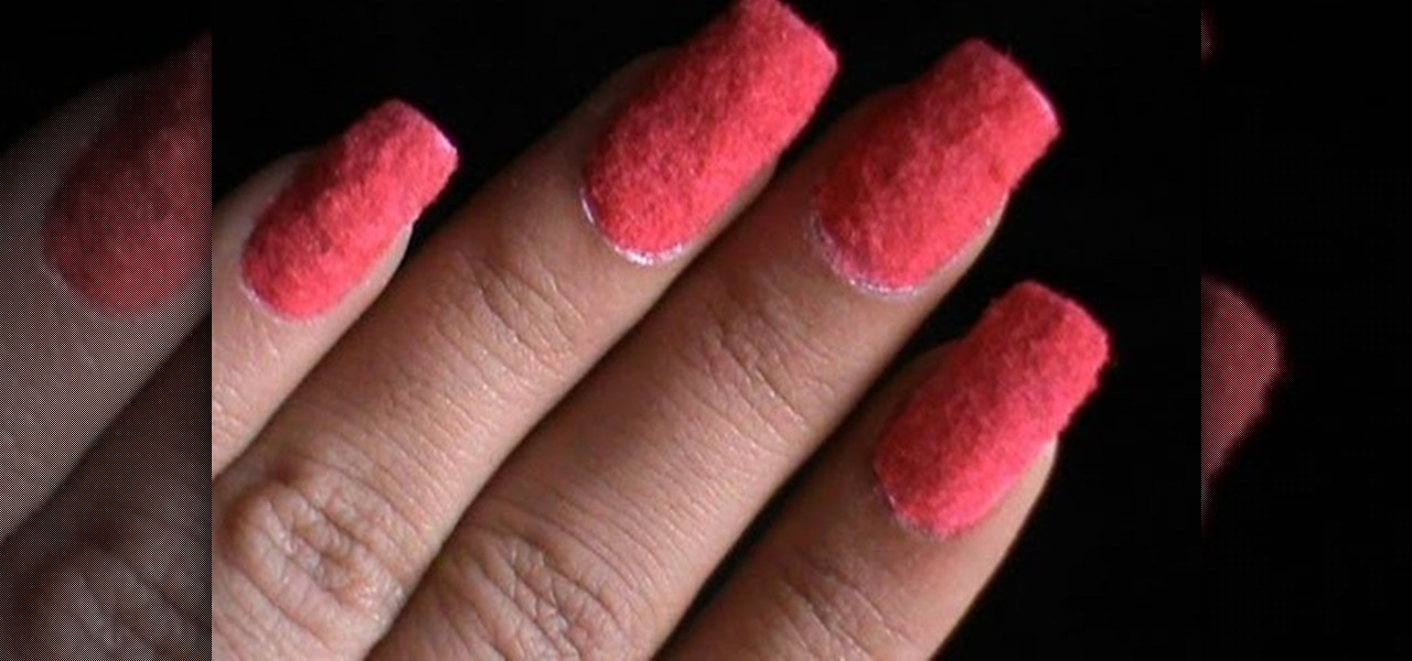 Do Flocking Nails Using Glue