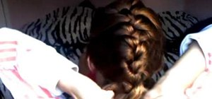 Simply French braid your own hair easily