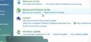 Use the PC Backup & Restore features in Windows Vista