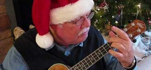 "Play ""I'll Be Home for Christmas"" on the ukulele"