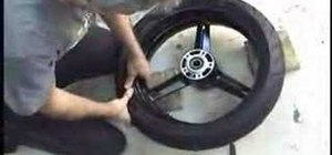 Install a motorcycle tire