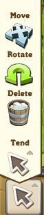 Arrow, move, rotate, delete