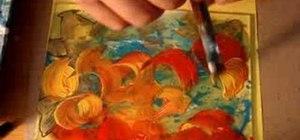 Paint on plexiglass