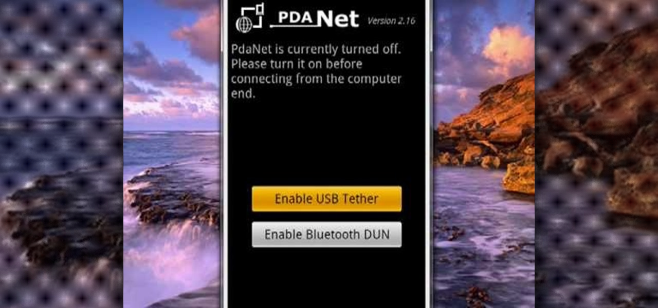 How to Tether your Android phone with PdaNet « Smartphones