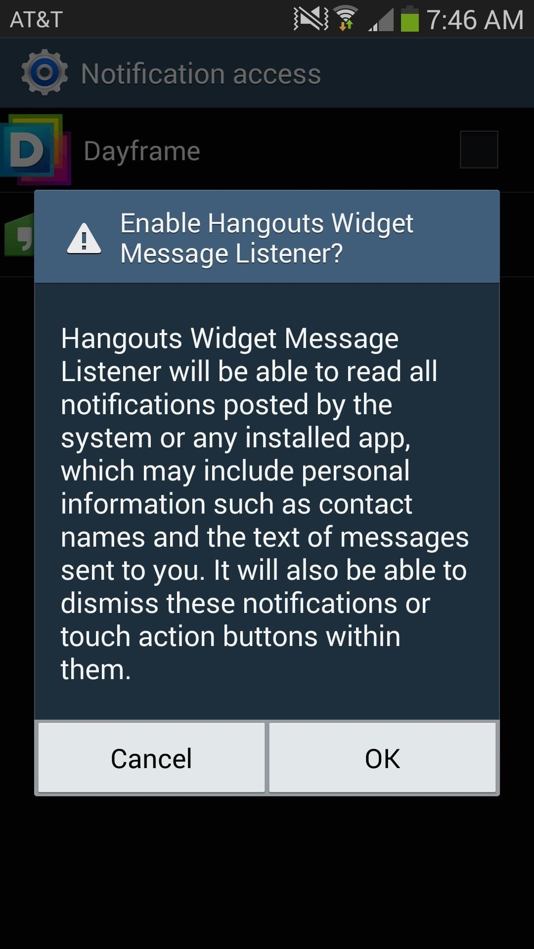 how to delete hangout messages