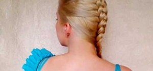 Create an inside out French braid/mohawk braid