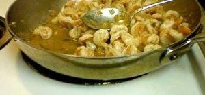 Make shrimp scampi at home