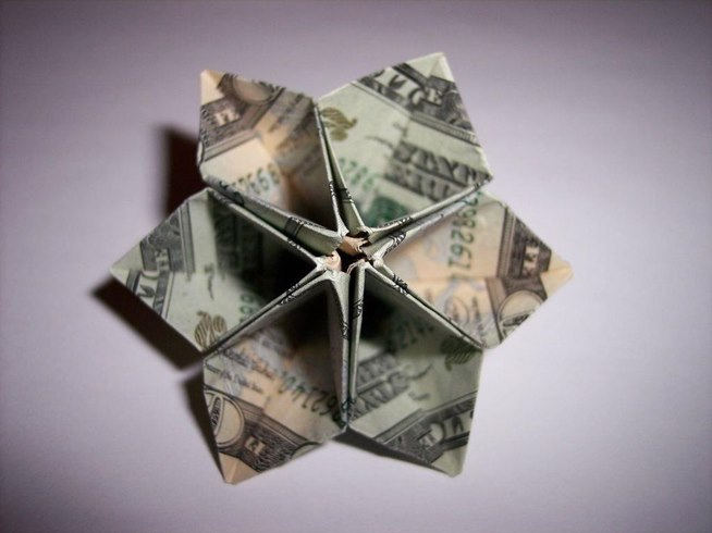Money Origami, Flower Edition: 10 Different Ways to Fold a Dollar Bill ...