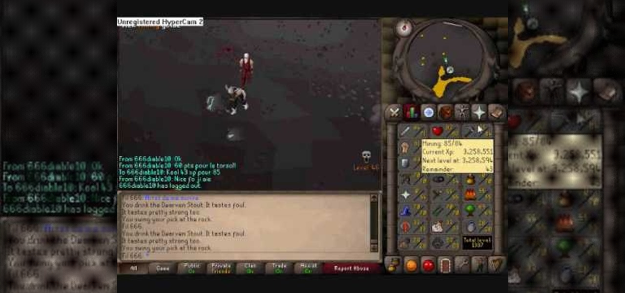 How to Power mine to an 85 mining level in RuneScape « PC