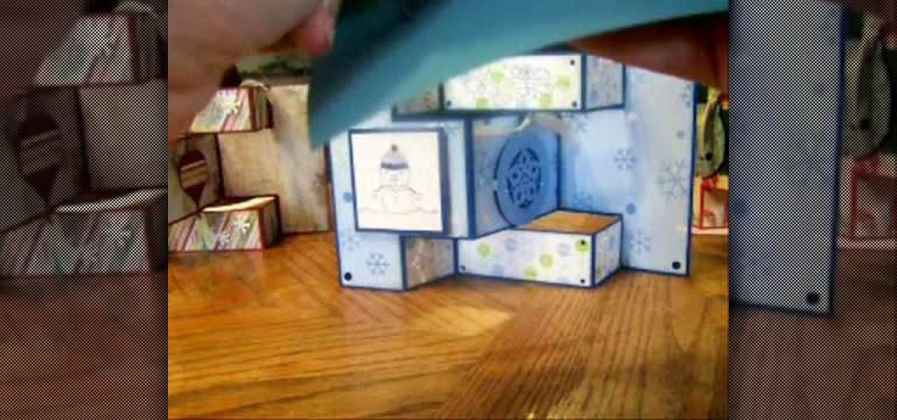 how to make a tri fold shutter card papercraft