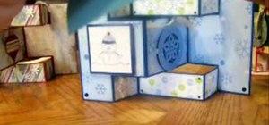 Make a tri-fold shutter card
