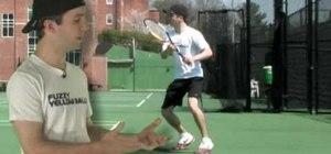 Practice side shuffle tennis footwork