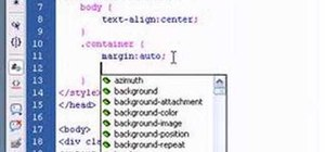 Horizontally center HTML elements with Dreamweaver