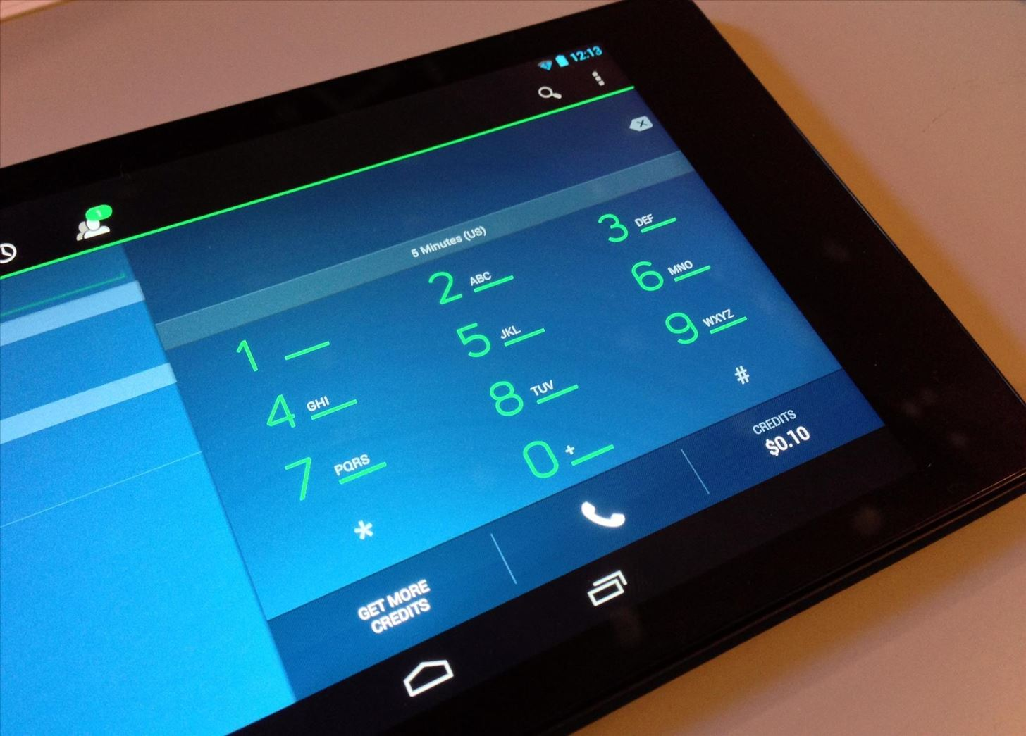 free phone on tablet