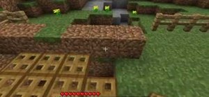 Make a drawbridge in Minecraft beta