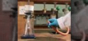 Perform proper vacuum filtration in the chemistry lab