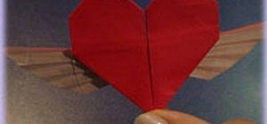 Make a winged heart with origami