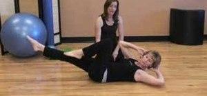 Practice a pilates obliques exercise
