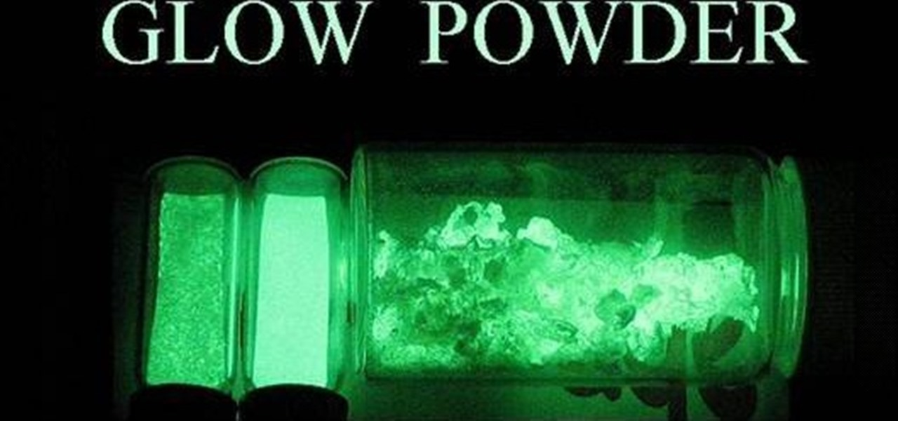 How To Make Green Luminescent Phosphorescent Glow Powder