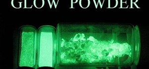Make green luminescent phosphorescent glow powder